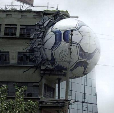 Рекламный баннер с мячом