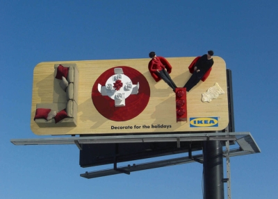 Рекламный баннер Ikea